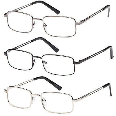 0ba2933187fd GAMMA RAY 3 Pairs of Stainless Steel Reading Glasses Readers w   Magnification
