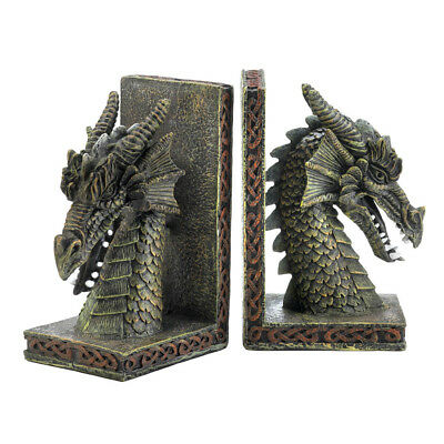 Decorative Bookends, Beautiful Adjustable Bookends Personalized Dragon Bookends