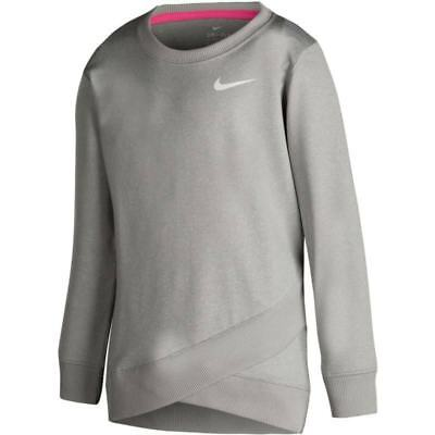 Nike Youth Dri-FIT Crossover Shirt, Gray/Grey- Girls - Sizes 4, 5, 6 - NWT