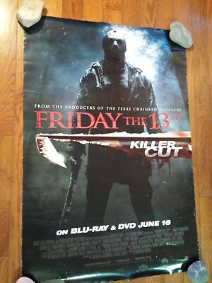 FRIDAY THE 13TH (2009) 'KILLER CUT' VIDEO POSTER 27x40