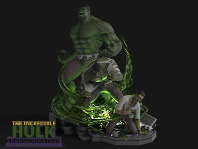 The Incredible Hulk Transformation Custom Statue