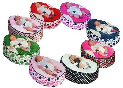 Pre-filled Baby Bean Bag with 2 Removable covers & Safety Harness- UK Seller