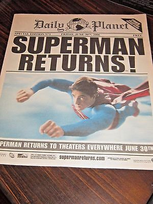 Daily Planet #1 Newspaper Special Edition Superman Returns Movie 2006 Near Mint