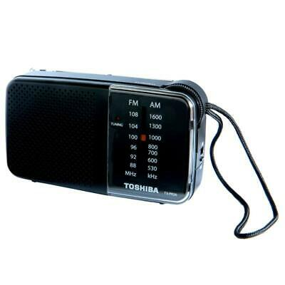 Toshiba TX-PR20 Black AM/FM Pocket Portable Battery Operated Radio Tuning