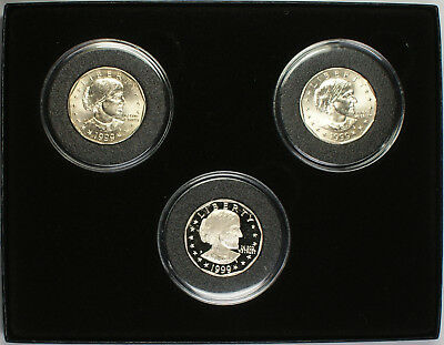 1999 Susan B. Anthony $1 Coin Set P & D Mint Marks & One Proof Coin