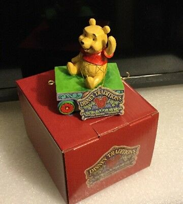 Jim Shore Disney Traditions Birthday Train Pooh Age 1 Car Figurine 4043655
