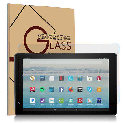 Tempered Glass Screen Protector for Amazon Tablet Fire 7 /HD 8 2018 / HD 10 2017