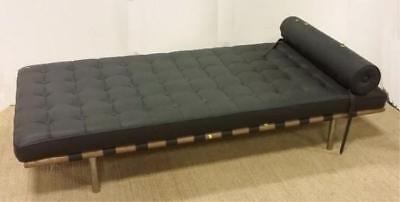 Mies van der Rohe Barcelona Style Daybed. Solid wood frame with chrome... Lot 25