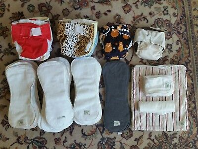 19 Green Kids mcn modern cloth nappies plus extras