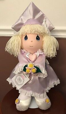 Precious Moments Graduation Doll with Light Purple Cap & Gown 1993 Tall Figure