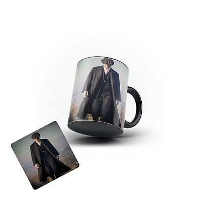 Peaky Blinders Tommy Shelby  Magic Mug Tea Coffee Mug MDF Coaster Gift