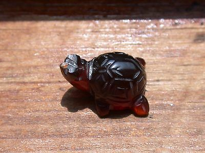 Turtle Carving from Burmite Amber Gemstone Dinosaur Age 99 Million Years Old