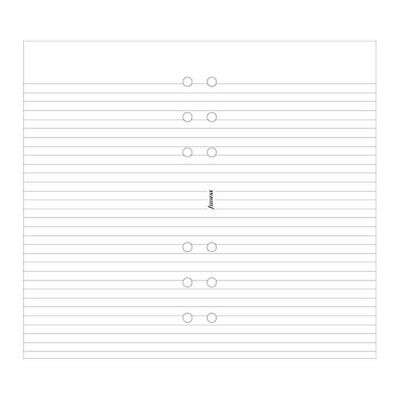 Filofax White Ruled Notepaper- Personal Size -  30 sheets - 133008