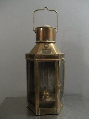 Vintage Brass Ships Lantern Made in England for Brooks Brothers