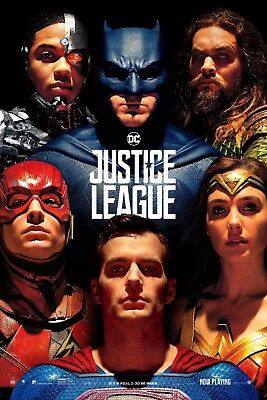 """Justice League (2017) Poster Silk movie wall decor size 12x18"""" JLGE18"""