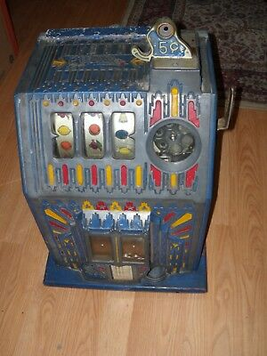 Beautiful Original Antique Pace 5 cent Slot Machine