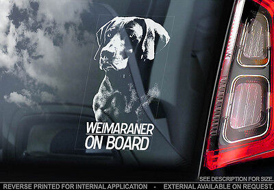 Weimaraner - Car Window Sticker - Dog Sign -V01