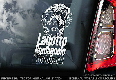 Lagotto Romagnolo - Car Window Sticker - Dog Sign -V01