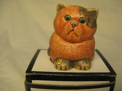 Harmony Kingdom Ball Pot Belly Cats - Birthstones * TOPAZ November