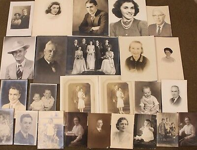 "Vintage 1920's-1940's Photograph Lot of 27 ""Wonderful People"""