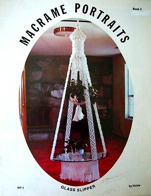 Vintage Macrame Book 1978 - MACRAME PORTRAITS - Book 3 by Vickie Knots &Projects