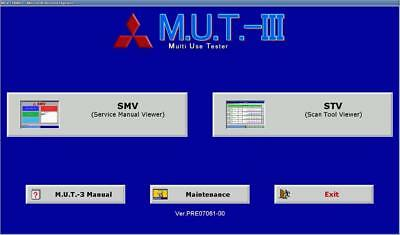 NEW Mitsubishi MUT III 3 17091 2017 June diagnosti Full Software