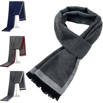 New Men's casual scarves winter Warm cashmere Scarf luxury Brand High Quality US