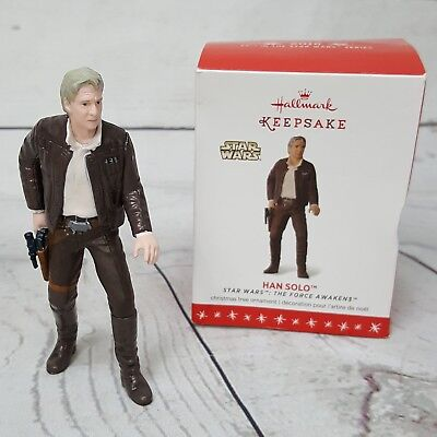 Hallmark Disney Star Wars Han Solo Force Awakens Christmas Holiday Ornament 2016