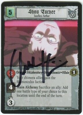 Chuck Huber Shou Tucker Soulless Father FMA Fullmetal Alchemist Signed Card Auto