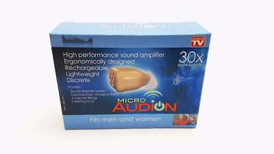 Audion Micro Hearing Amplifier Aid Kit 30X - Comfortable - Rechargeable Earpiece