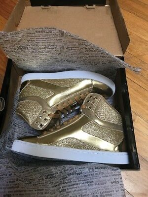 Gold hip hop dance shoes- Size 36- Brand New