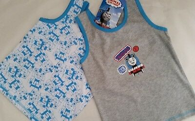 THOMAS & AND FRIENDS Boy 2x Licensed singlet vest stretch tank top NEW sizes 2-6