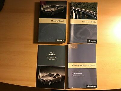 2007 lexus is 350 250 owners manual with case numerous rh picclick com 2010 lexus is 250 owners manual pdf free 2007 lexus is 250 awd owners manual