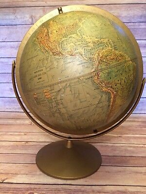Vintage Replogle Land And Sea World Globe 12 Inch