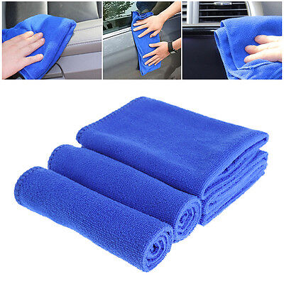 30x30cm Soft Blue Absorbent Wash Cloth Car Auto Care Microfiber Cleaning Towels