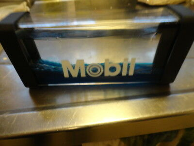 Mobil Oil Water and oil Display ? Paperweight ?