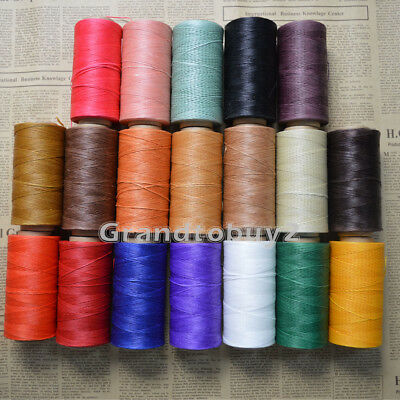 New 284yards 19 Colors Sewing Leather Waxed Thread Waxing Cord For Leather Craft