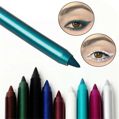 2PC Longlasting Eye Liner Pencil Pigment Waterproof White Color Eyeliner Makeup