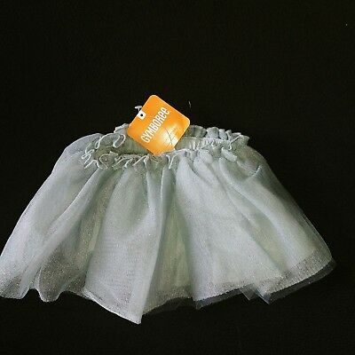 NWT Gymboree Shimmery Silver TUTU Skirt & Diaper Cover 3-6m