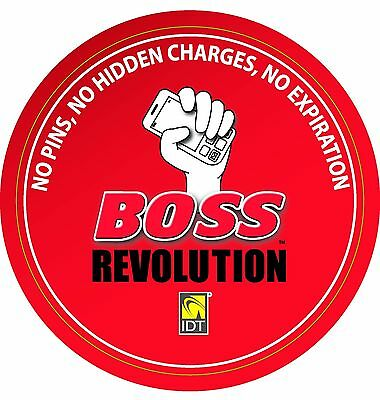 Boss Revolution $5 International Long Distance Call Credit New Clients Only