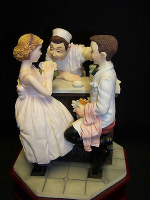 After The Prom (Norman Rockwell)-Musical Figurine By San Francisco Music Box Co.