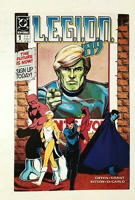 Legion '89 #1, Premiere First Issue, Dc 1989, Nm-9.2, Uncertified