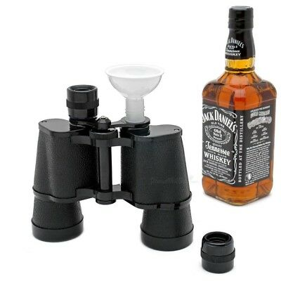 Sneaky Binocular Flask 500ml Hidden Alcohol Festival Cricket Gift Sunscreen