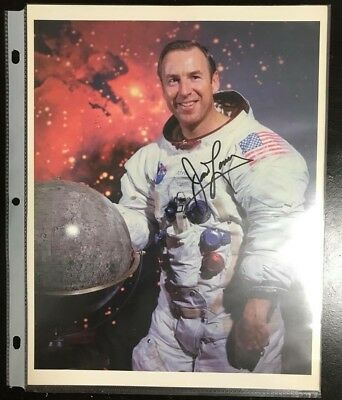 Authentic Signed Jim lovell Apollo-8 & 13 Astronaut W/ Fisher Space Pen COA