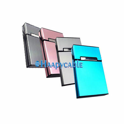 New Aluminum Metal Cigarette Case Tobacco Cigar Holder Pocket Box Container Pack