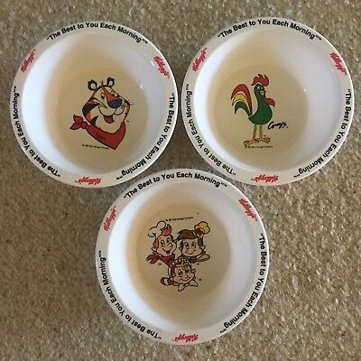 Kellogg's Cereal Bowls - Melamine - Collectable Retro Vintage