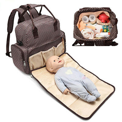 Large Capacity Mummy Bag Baby Diaper Nappy Maternity Changing Travel Backpack UK