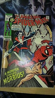 The Amazing Spider-Man #101 (Oct 1971, Marvel) 1st Morbius! New movie coming!
