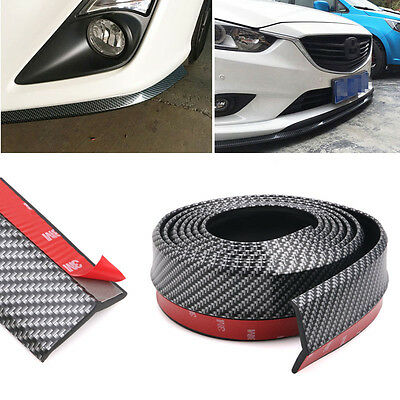 Carbon Fiber Universal Front Bumper Lip Splitter Chin Spoiler Body Trim 8ft/2.5M