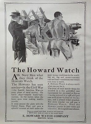1909 Ad(G19)~Howard Watch Co. Boston. Since The Civil War And Now The Navy